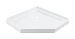 Delta  38-1/4 in. W x 38-1/4 in. L White  Shower Base