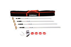 Zipwall  ZipPole  Telescoping 4.6 ft. L x 1 in. Dia. Aluminum  Extension Pole