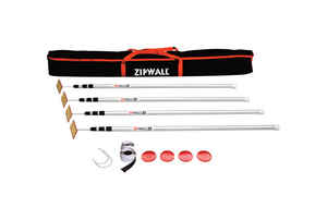 Zipwall  ZipPole  Telescoping 4.6 ft. to 12ft. ft. L x 1 in. Dia. Aluminum  Extension Pole