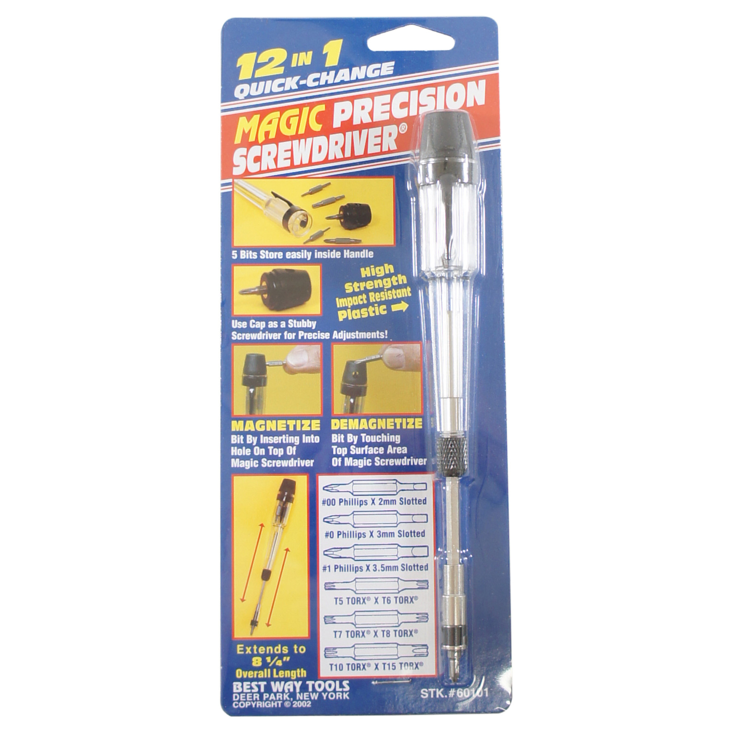 Best Way Tools  1/4  Precision Screwdriver  Steel  Clear  1 set 4 in. 3/16 in.