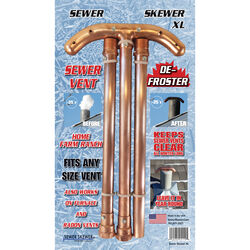 Sewer Skewer XL Copper Sewer Vent Defroster