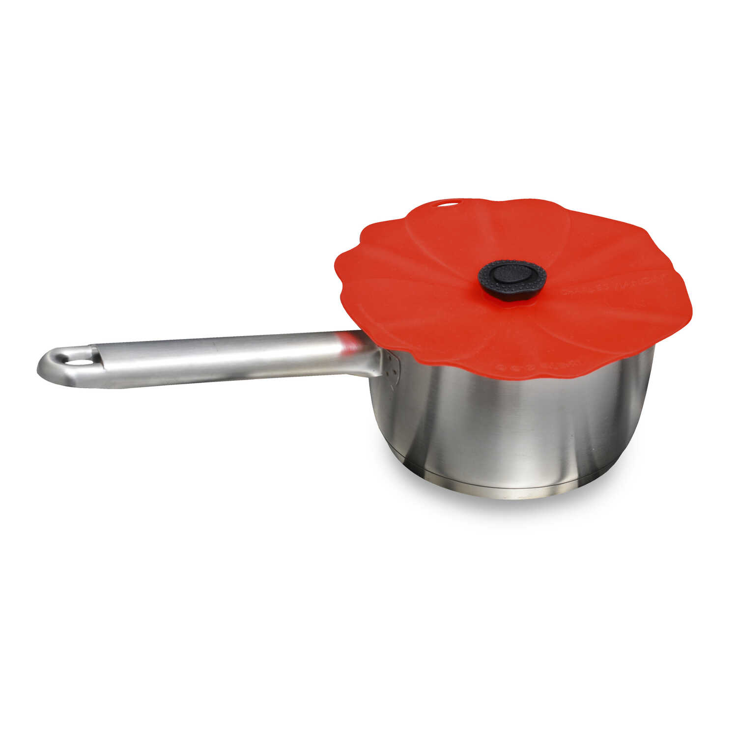 Charles Viancin  6 in. W Red  Silicone  Small Poppy Lid