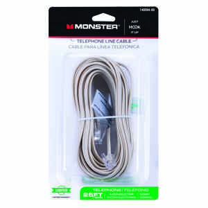 Monster Cable  Just Hook It Up  25 ft. L Ivory  Modular Telephone Line Cable
