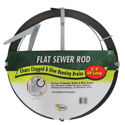 Cobra  50 ft. L Flat Steel Sewer Rod
