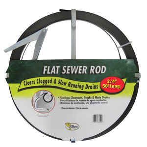 Cobra  3/4 in. Flat Steel Sewer Rod  50 ft.
