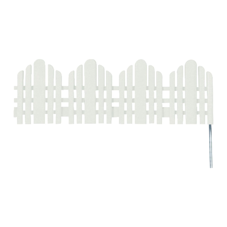 Easy Gardener 22 In. L X 6.5 In. H Plastic Garden Fence White