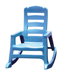 Adams  Lil' Easy  1 pc. Pool Blue  Polypropylene Frame Stackable  Kid's Rocking Chair