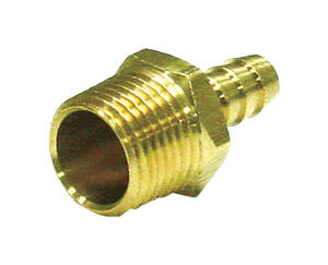 JMF  Brass  Adapter  1 in. Dia. x 3/4 in. Dia. Yellow  1 pk