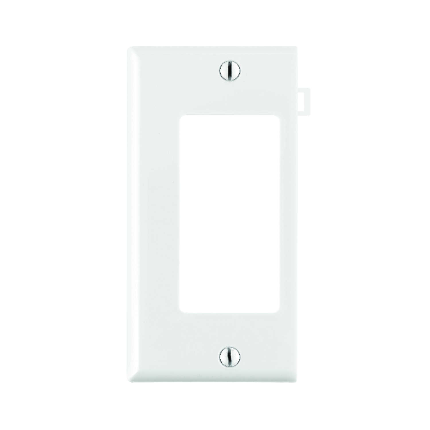 Leviton  End Section  White  1 gang Nylon  Wall Plate  1 pk GFCI/Rocker