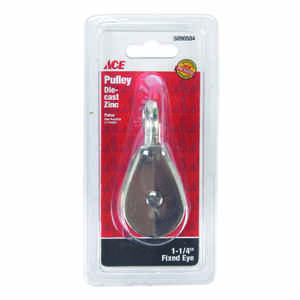 Ace  1/4 in. Dia. Copper  Ridge Eye  Single Sheave Rigid Eye Pulley