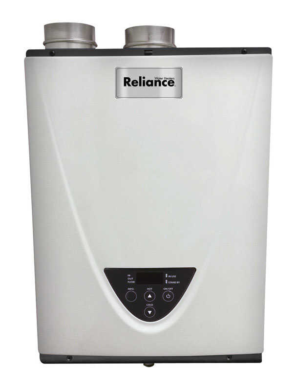 Reliance  Tankless Water Heater  Propane  25-5/8  H x 12-3/8  L x 18-1/2  W