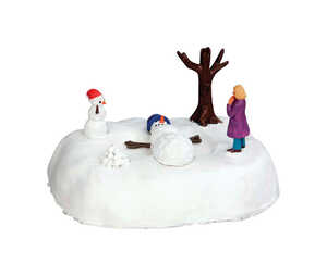 Lemax  Snowman Angel  Village Accessory  White  1 each Resin