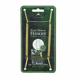 Tripar  7 in. to 10 in.  Brass  Plate Hanger  1 pk