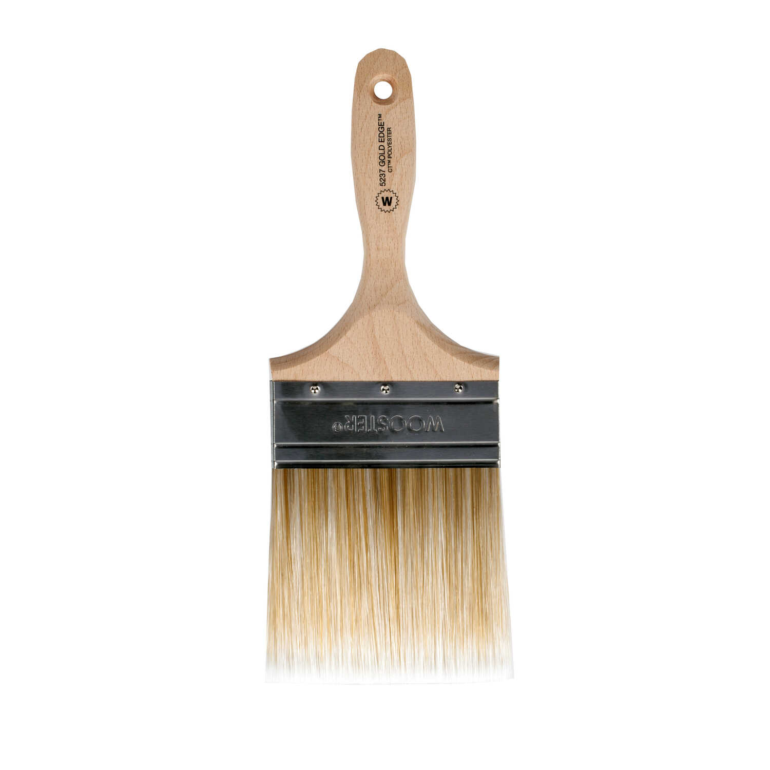 Wooster  Gold Edge  4 in. W Straight  Polyester Blend  Paint Brush