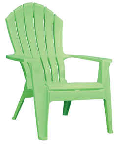 Adams  RealComfort  Green  Polypropylene  Adirondack Chair