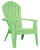 Adams  RealComfort  1 pc. Summer Green  Polypropylene Frame Adirondack Chair  Green