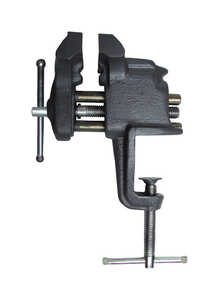 Craftsman  3 in. Steel  Gray  Clamp-On Vise  Swivel Base
