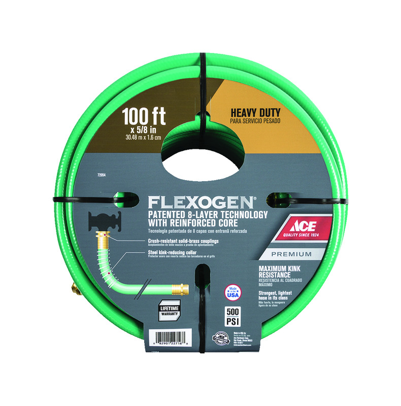 Ace Flexogen 5/8 in. Dia. x 100 ft. L Premium Grade  sc 1 st  Ace Hardware & Garden Hose Flexible and Coil Water Hose at Ace Hardware