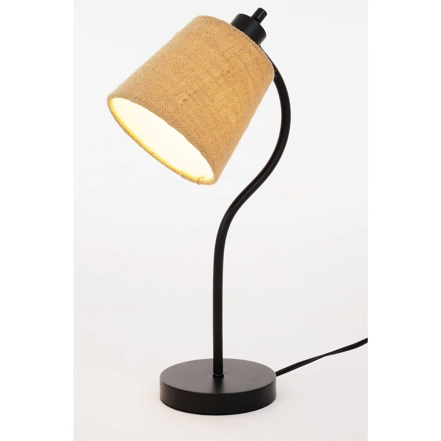 Living Accents  17-3/4 in. Matte  Black  Desk Lamp