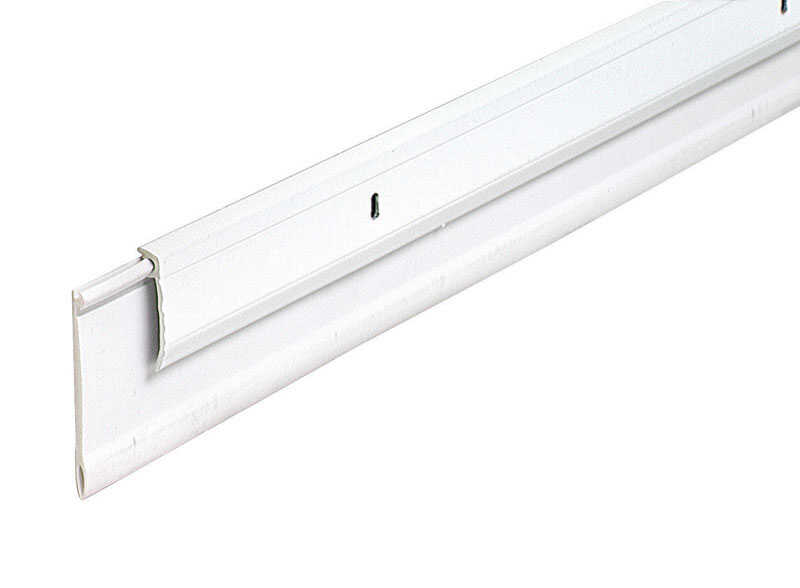 M-D Building Products  White  Aluminum  Door Sweep  3/4 in.  x 36 in. L For Door Bottom