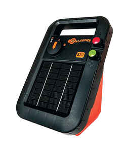 Gallagher  S20  6 volt Solar  Fence Energizer  12 mi. Black/Orange