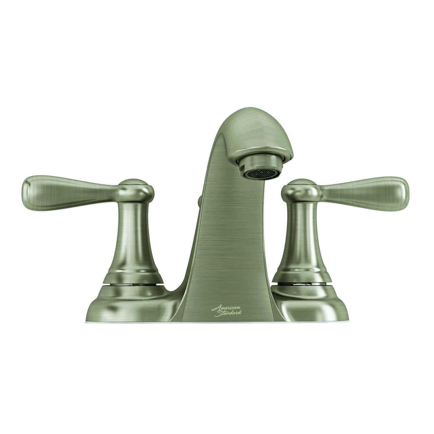 American Standard  Marquette  Brushed Nickel  Two Handle  Lavatory Faucet  4 in.