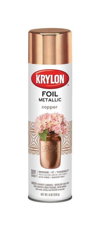 Krylon  Foil  Copper  Metallic Spray Paint  8 oz.