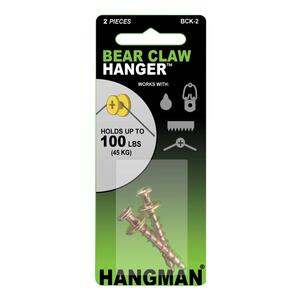 Hangman  Gold  Double Headed Hanger  100 lb. Heavy Duty  2 each