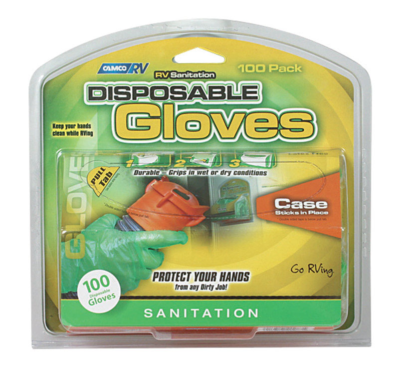 Camco  Sanitation Gloves With Dispenser  100 pk