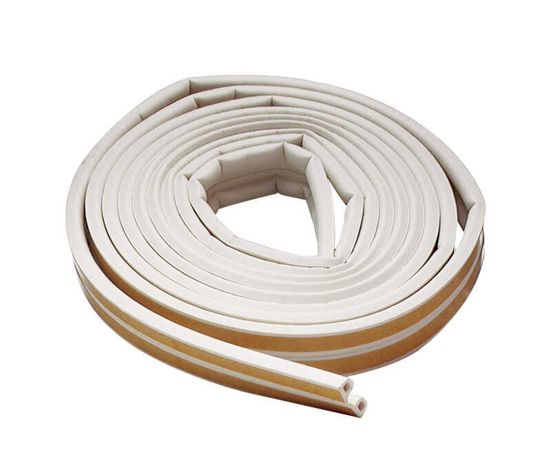 M-D Building Products  White  Rubber  17 ft. L x 7/32 in.  For Door and Window Weather Stripping