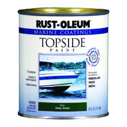 Rust-Oleum  Marine Coatings  Outdoor  Gloss  Deep Green  Marine Topside Paint  1 qt.