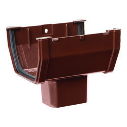 Genova  Raingo Duraspout  2 in. H x 3 in. W x 6 in. L Brown  Vinyl  A  Gutter Drop Outlet