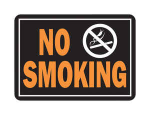 Hy-Ko  English  No Smoking  Sign  Aluminum  9.25 in. H x 14 in. W