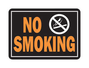 Hy-Ko  English  No Smoking  10 in. H x 14 in. W Sign  Aluminum