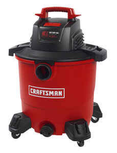 Craftsman  9 gal. Corded  Wet/Dry Vacuum  8.3 amps 120 volt Red  16 lb.