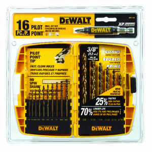 DeWalt  Pilot Point  Multi Size in. Dia. x Multi Sizes L Ferrous Oxide  Drill Bit Set  Round Shank