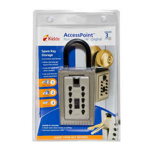 GE  5.3 in. H x 2.5 in. W Plastic  4-Digit Combination  Key Safe  1 pk