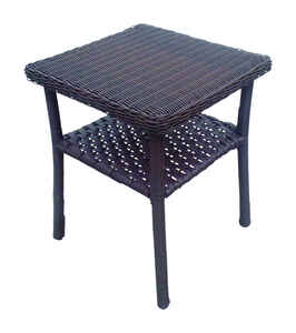 Chicago Wicker  Brown  Square  End Table