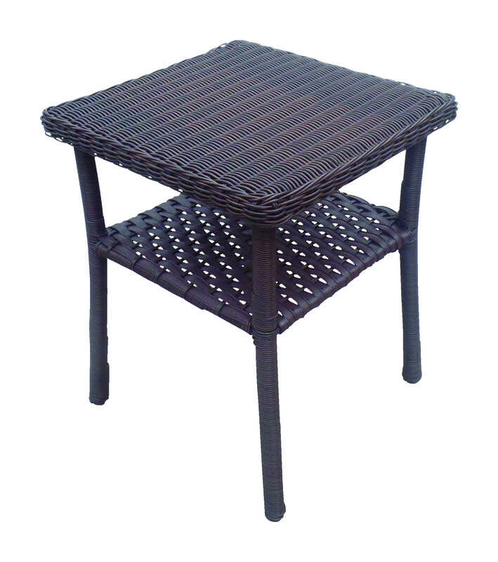 Chicago Wicker  Brown  Chesapeake  Square  End Table