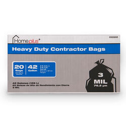 Home Plus  42 gal. Contractor Bags  Flap Tie  20 pk