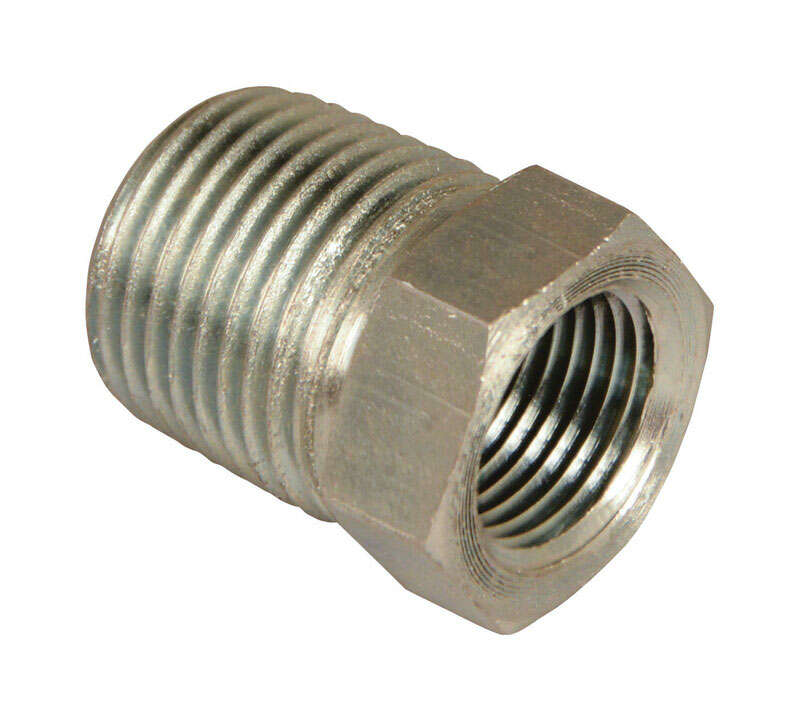 Apache Steel 1/2 in. Dia. x 3/8 in. Dia. Hydraulic Adapter 1 pk