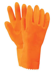 Firm Grip  Unisex  Indoor/Outdoor  Nitrile  Stripping  Stripping Gloves  Orange  M