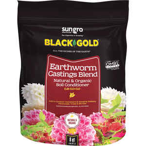 Black Gold  Organic 8  Earthworm Castings