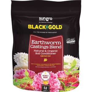 Black Gold  Earthworm Castings  8  Organic