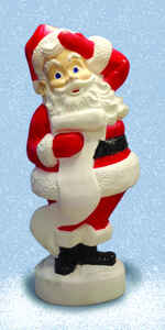 Union Products  Santa Blow Mold  Christmas Decoration  Red/White  Resin  1 each