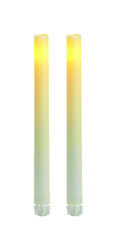 Inglow  White  Taper  Candle  9 in. H