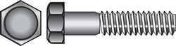 Hillman  1/2 in. Dia. x 8 in. L Hot Dipped Galvanized  Steel  Hex Bolt  25 pk
