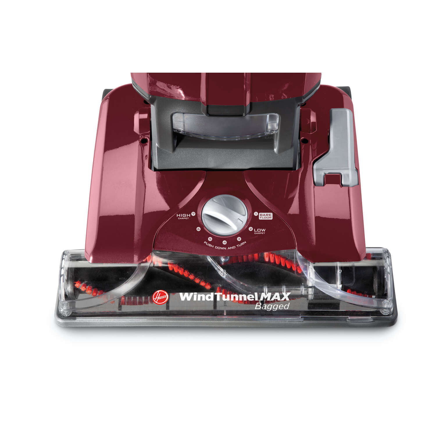 Hoover  WindTunnel MAX  Bagged  Upright Vacuum  12 amps HEPA  Red