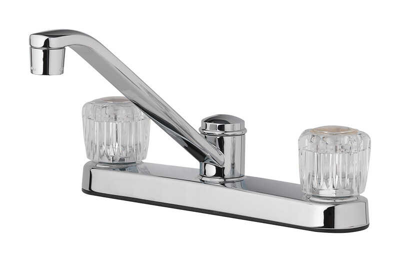 OakBrook  Essentials  2 Handle Kitchen  Two Handle  Chrome  Kitchen Faucet