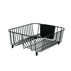 Rubbermaid  5.3 in. H x 12.4 in. W x 14.3 in. L Steel  Dish Drainer  Black